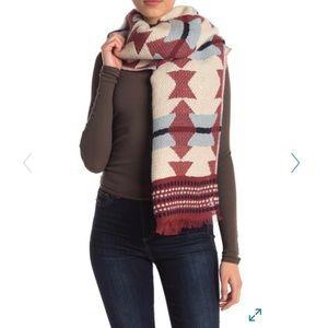 Madewell geo design scarf new large autumn
